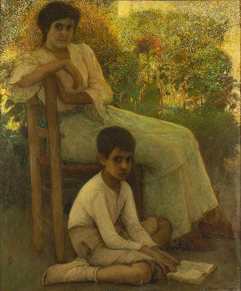 Julio Romero de Torres. Aprendiendo a leer, 1904/6. Salida: 90.000 euros. Reservado