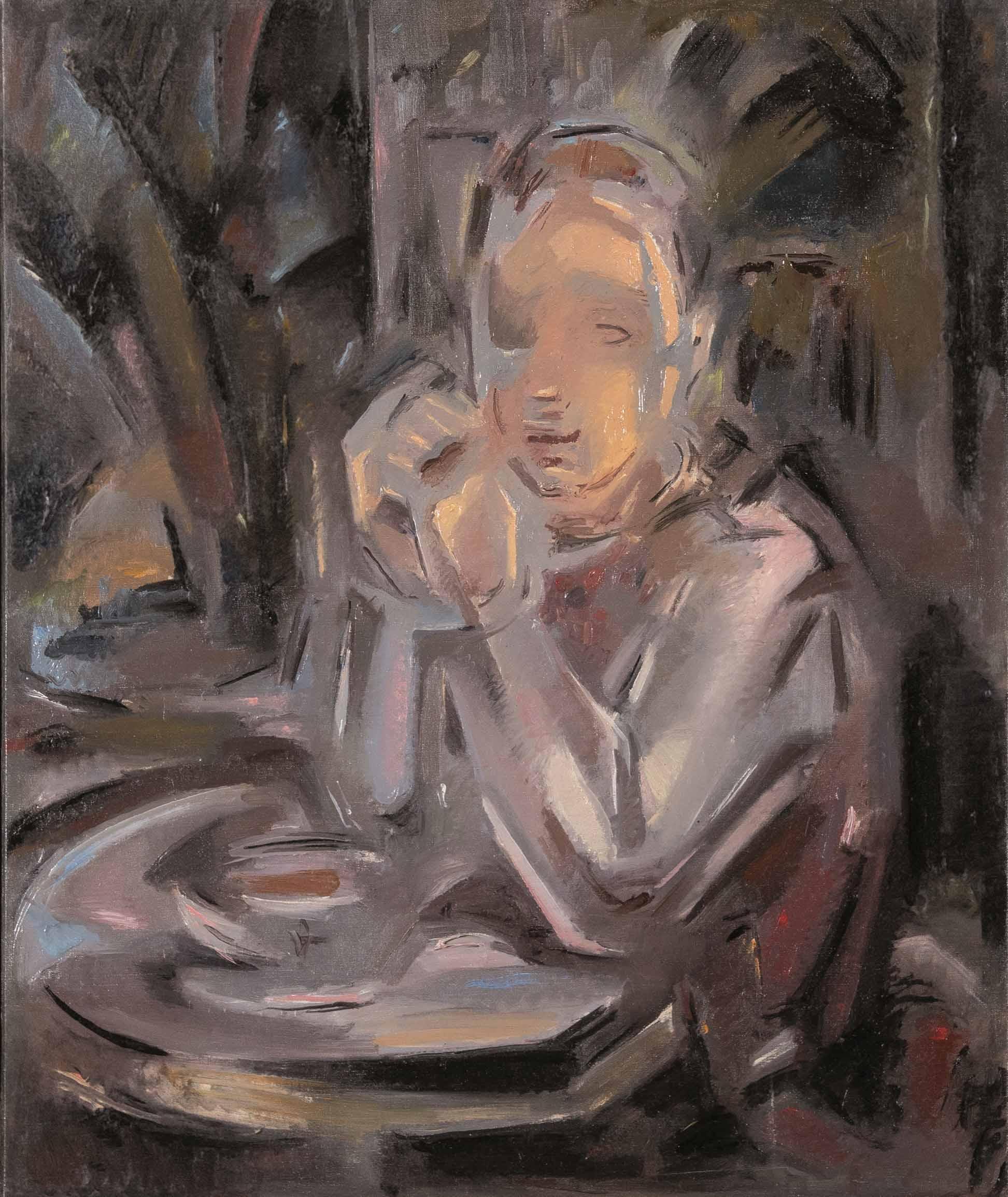 María Blanchard. Joven sentada a una mesa delante de una taza, 1931-32. Salida y remate: 58.000 euros