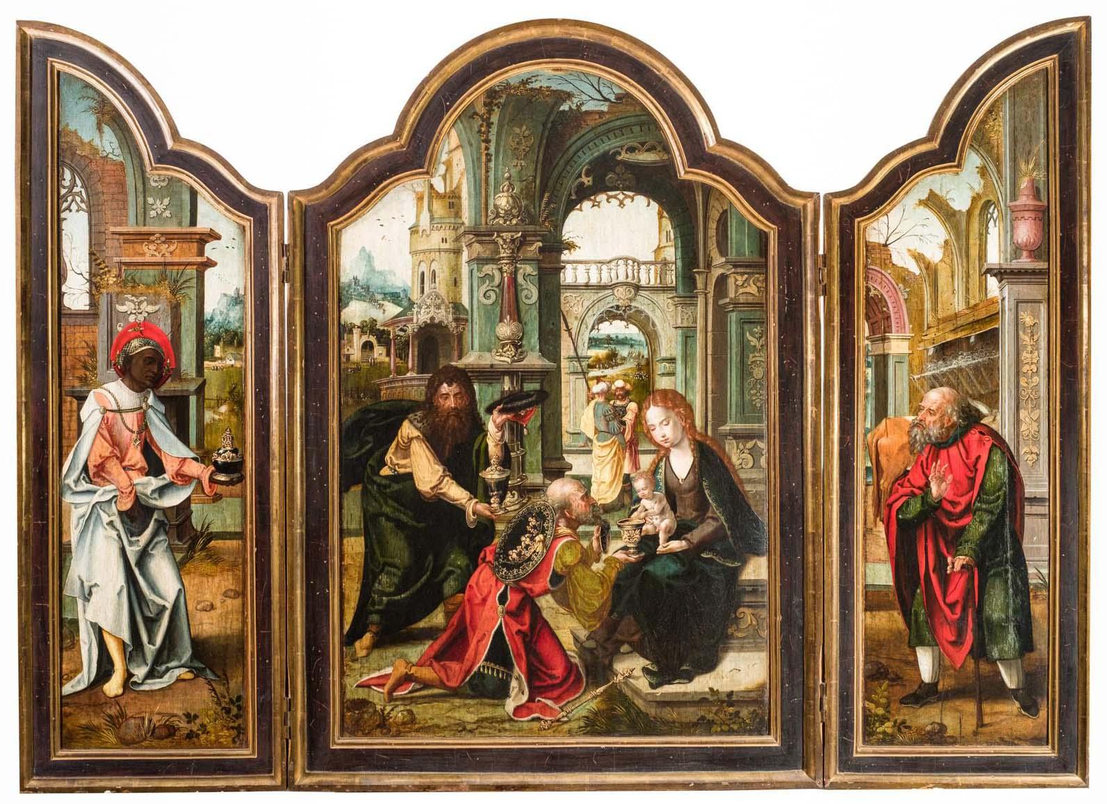 Taller de Pieter Coecke van Aelst, Adoración de los Reyes Magos. Salida: 75.000 euros. Remate: 160.000 euros
