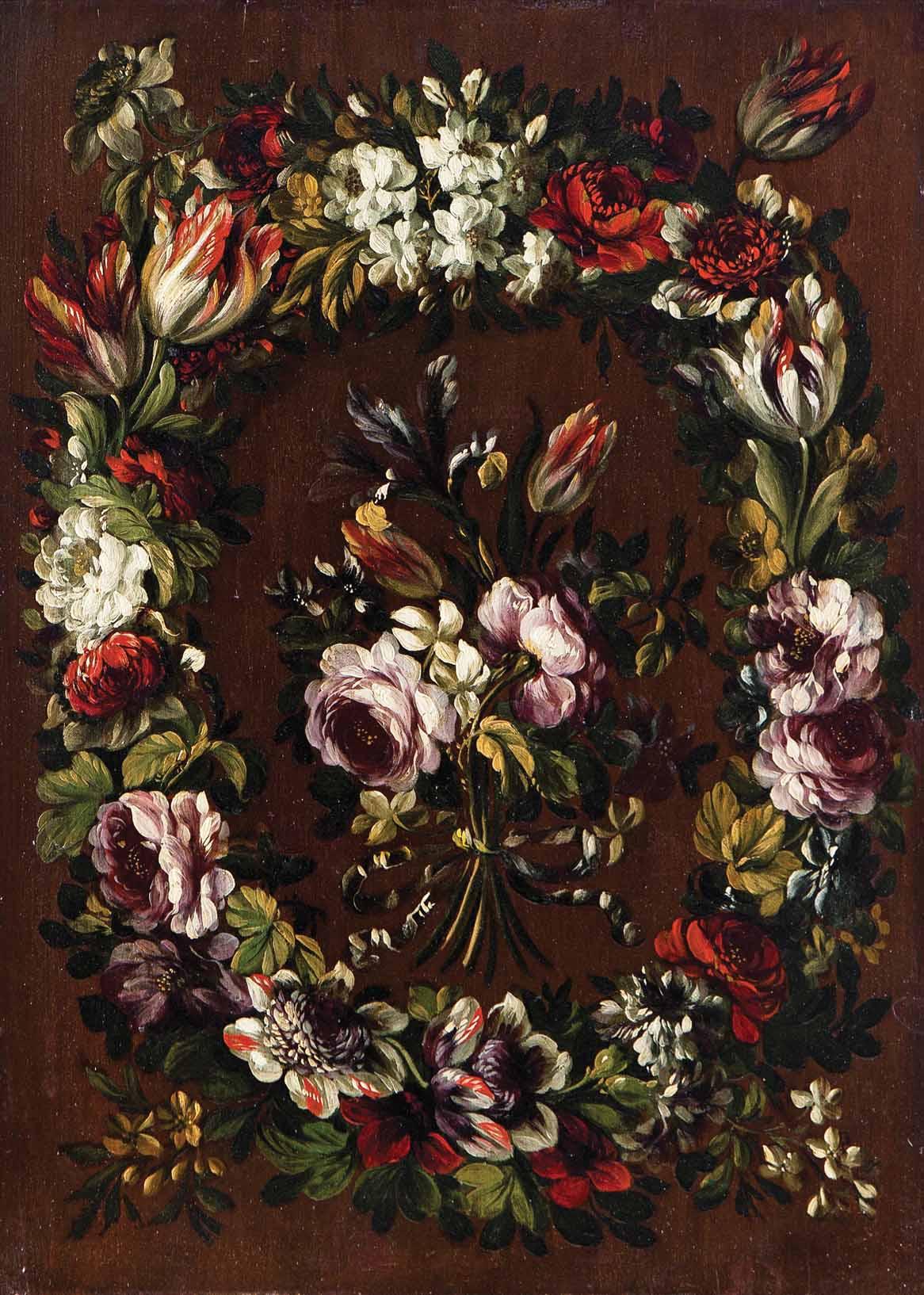Gabriel de la Corte, Corona y ramillete de flores. Salida: 15.000 euros. No vendido