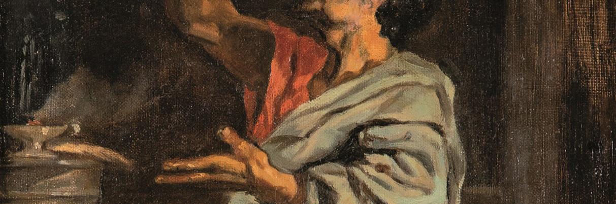 Eduardo Rosales, Estudio de Bruto para La muerte de Lucrecia, 1871, detalle. Salida: 5.000 euros