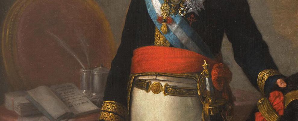 Agustín Esteve, Retrato de Pedro de Alcántara Álvarez de Toledo y Gonzaga, XV Conde de Miranda de Castañar y X Duque de Peñaranda de Duero, detalle. Salida: 60.000 euros